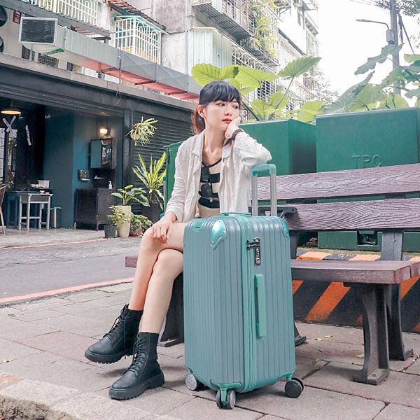 小胖箱推薦|23.5吋專為國內旅遊而生的行李箱湖水綠 (6)