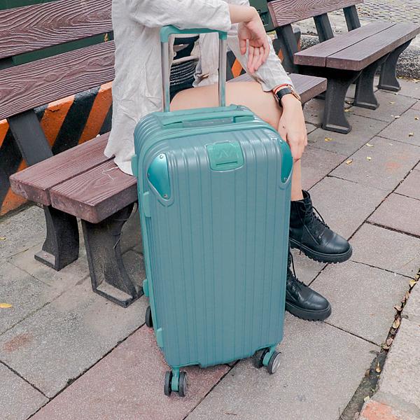 小胖箱推薦|23.5吋專為國內旅遊而生的行李箱湖水綠 (9)