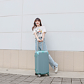 小胖箱推薦|23.5吋專為國內旅遊而生的行李箱湖水綠 (11)