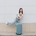 小胖箱推薦|23.5吋專為國內旅遊而生的行李箱湖水綠 (10)