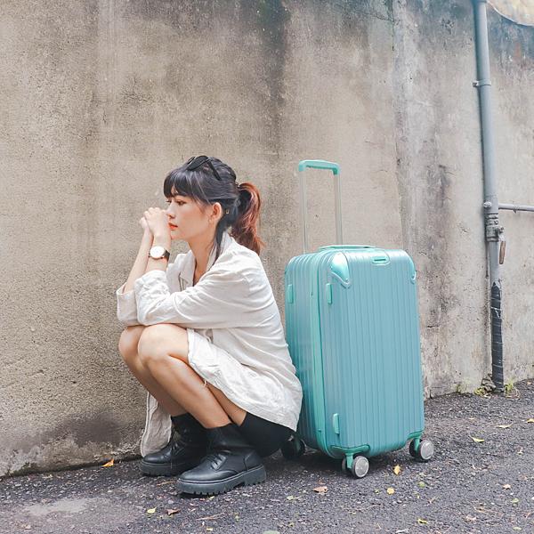 小胖箱推薦|23.5吋專為國內旅遊而生的行李箱湖水綠 (17)