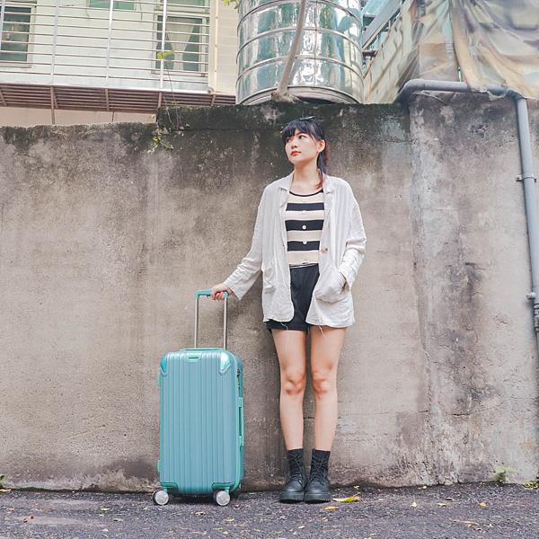 小胖箱推薦 23.5吋專為國內旅遊而生的行李箱湖水綠 (19)