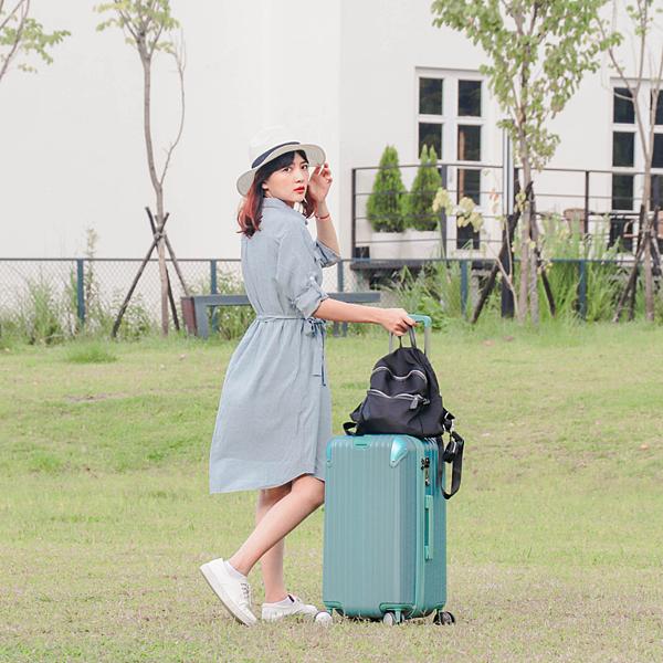 小胖箱推薦|23.5吋專為國內旅遊而生的行李箱湖水綠 (14)