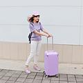 小胖箱推薦|23.5吋專為國內旅遊而生的行李箱紫 (1)