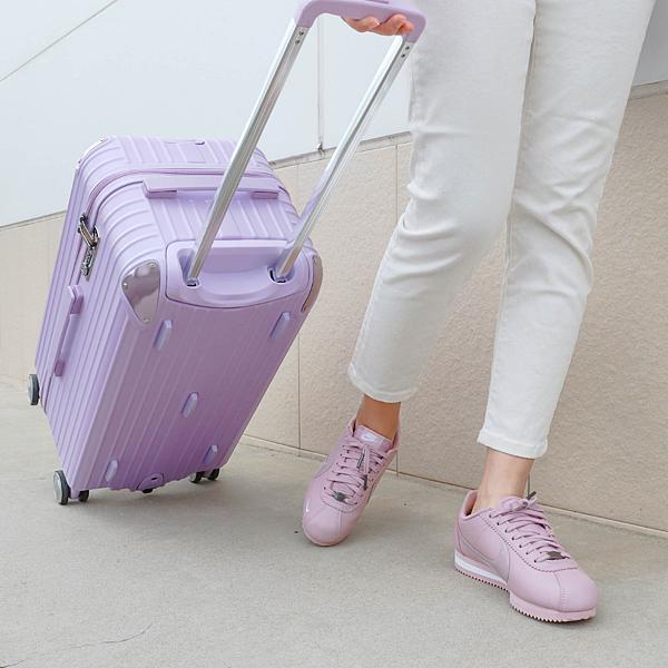 小胖箱推薦 23.5吋專為國內旅遊而生的行李箱紫 (2)