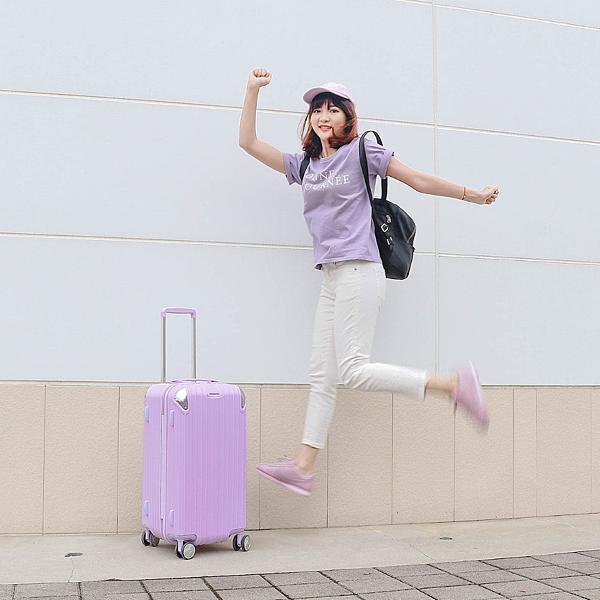 小胖箱推薦 23.5吋專為國內旅遊而生的行李箱紫 (3)