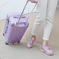 小胖箱推薦|23.5吋專為國內旅遊而生的行李箱紫 (4)