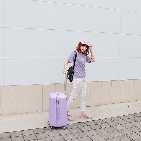 小胖箱推薦|23.5吋專為國內旅遊而生的行李箱紫 (8)