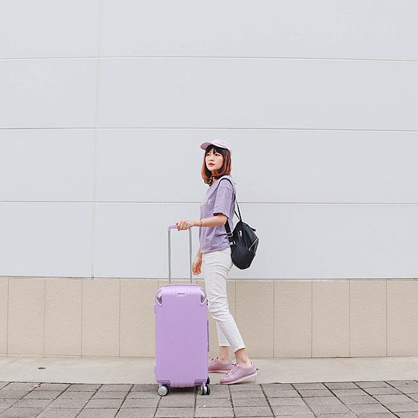 小胖箱推薦 23.5吋專為國內旅遊而生的行李箱紫 (7)