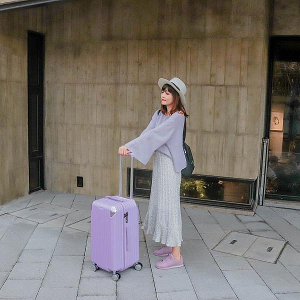 小胖箱推薦|23.5吋專為國內旅遊而生的行李箱紫 (11)
