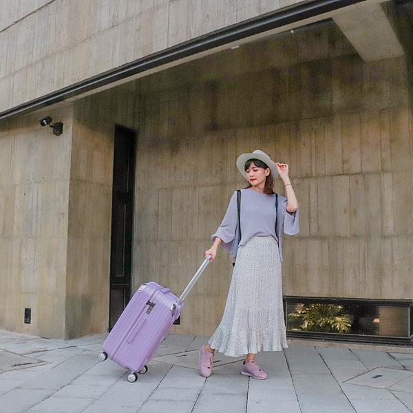 小胖箱推薦|23.5吋專為國內旅遊而生的行李箱紫 (14)