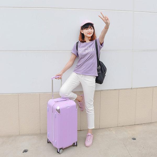 小胖箱推薦|23.5吋專為國內旅遊而生的行李箱紫 (15)