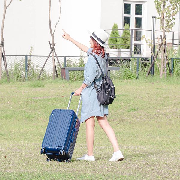 小胖箱推薦|23.5吋專為國內旅遊而生的行李箱藍 (1)