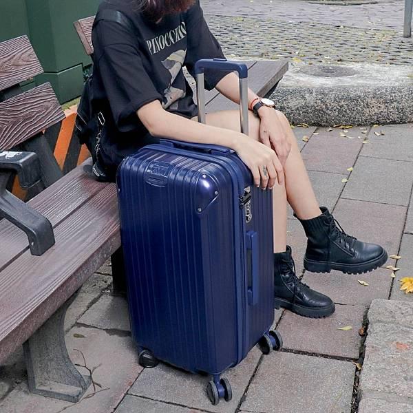 小胖箱推薦|23.5吋專為國內旅遊而生的行李箱藍 (6)