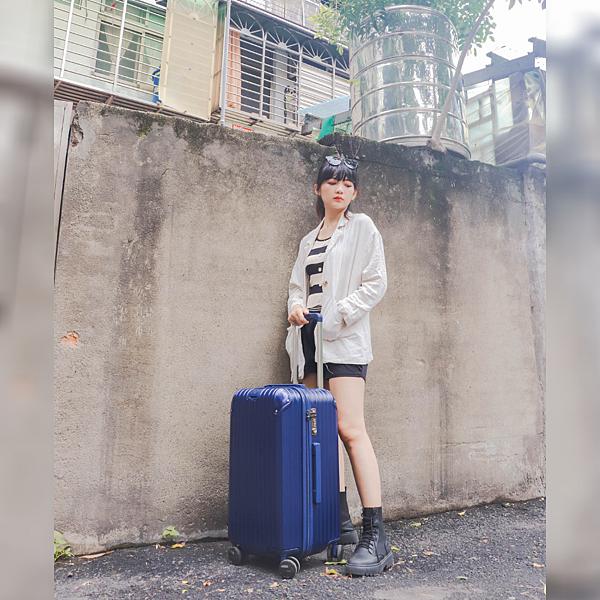 小胖箱推薦|23.5吋專為國內旅遊而生的行李箱藍 (8)