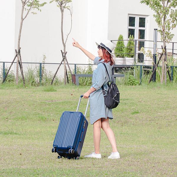 小胖箱推薦|23.5吋專為國內旅遊而生的行李箱藍 (9)
