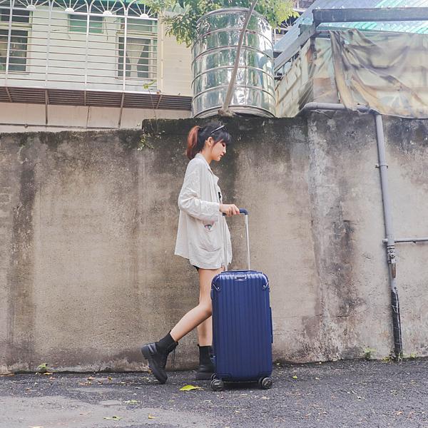 小胖箱推薦|23.5吋專為國內旅遊而生的行李箱藍 (11)