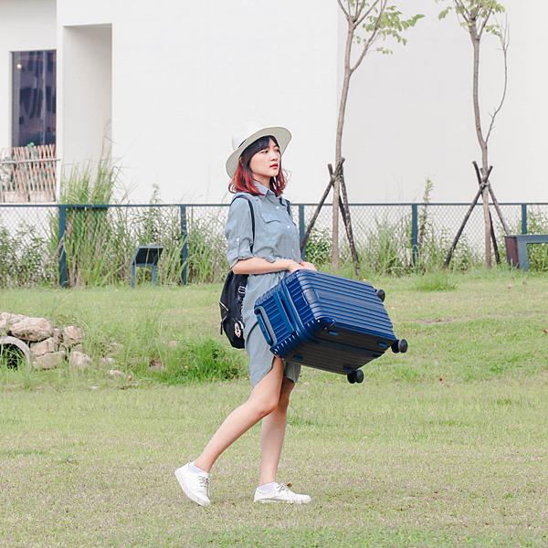 小胖箱推薦|23.5吋專為國內旅遊而生的行李箱藍 (13)
