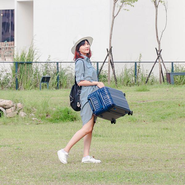 小胖箱推薦 23.5吋專為國內旅遊而生的行李箱藍 (14)