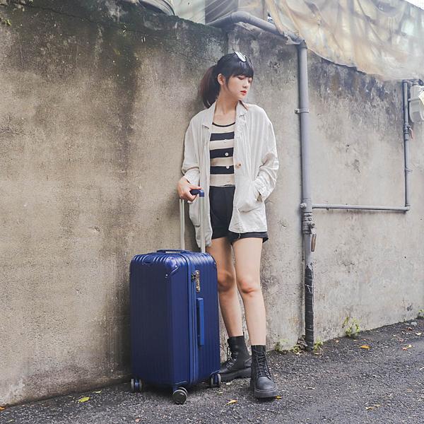 小胖箱推薦|23.5吋專為國內旅遊而生的行李箱藍 (12)