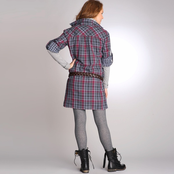 Robe chemise à carreaux manches longues pur coton double face-1.jpg