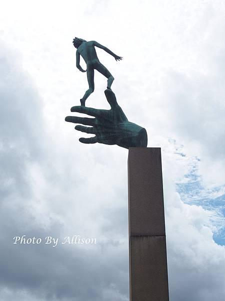 米勒公園精彩雕塑--上帝之手