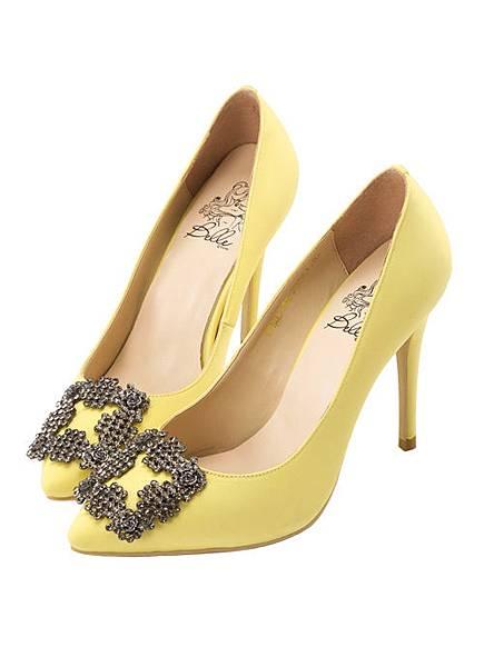 gracegift_貝兒玫瑰方鑽釦跟鞋2.jpg