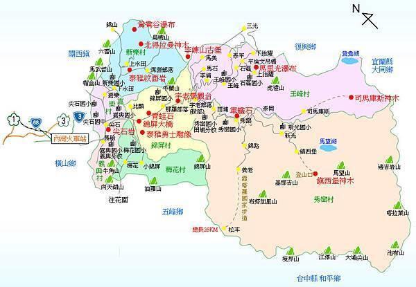 尖石鄉地圖1