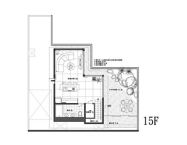 15樓平面圖-Model