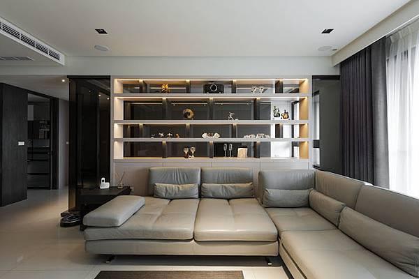 權釋設計規劃推薦新建案樣品屋新竹千荷田豪宅住宅居家空間裝潢建材造型天花工程中古屋價格費用客廳-01客廳-05