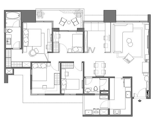 室內設計, 權釋設計, 台北室內設計, 竹北室內設計, 新竹室內設計, 台中室內設計, 洪韡華, allness, 裝潢設計, 動線規劃, 材質應用, 三代同堂, 空間感