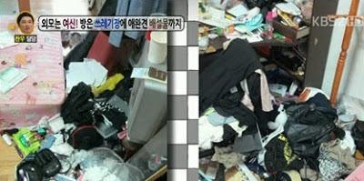 韓垃圾場女 家中髒亂引人側目 - 垃圾場女
