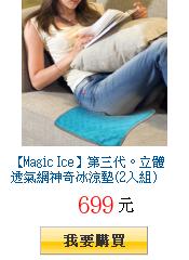 【Magic Ice】第三代。立體透氣網神奇冰涼墊(2入組)