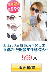 Bella CoCo 好萊塢時髦太陽眼鏡&平光眼鏡▼任選2款$599