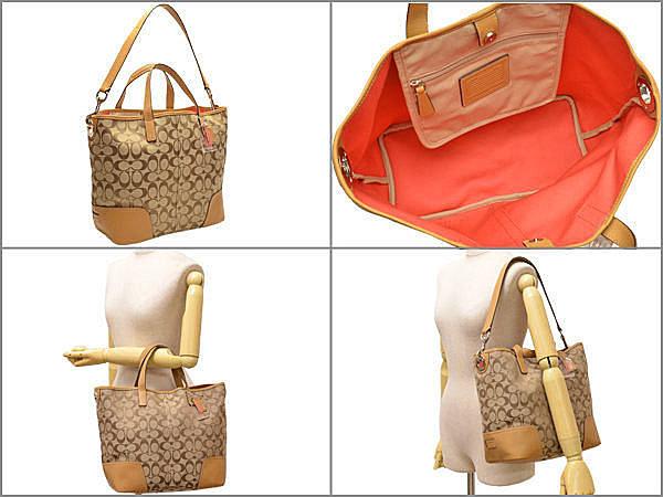COACH 28981 織布材質拼接皮革 手提包 肩背包 10.jpg