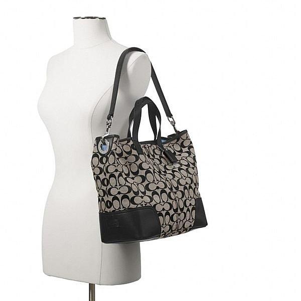 COACH 28981 織布材質拼接皮革 手提包 肩背包 9.jpg