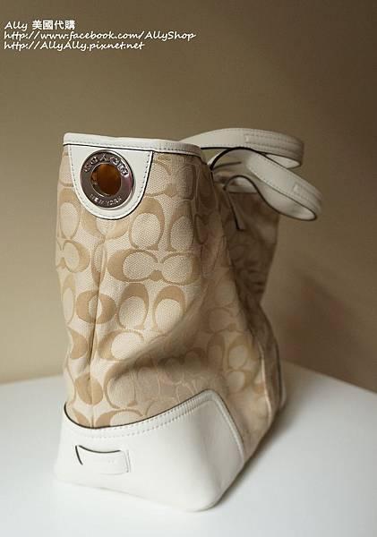 COACH 28981 織布材質拼接皮革 手提包 肩背包 5.JPG