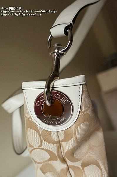 COACH 28981 織布材質拼接皮革 手提包 肩背包 4.JPG