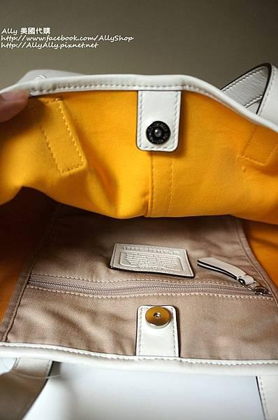 COACH 28981 織布材質拼接皮革 手提包 肩背包 2.JPG