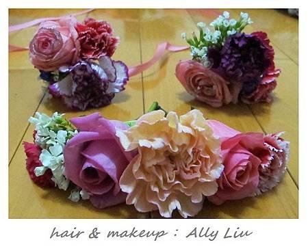 Ally手做新娘新郎鮮花