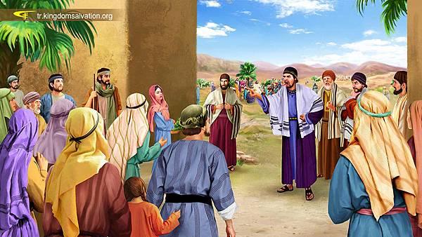 文士和法利赛人故意拦阻人们听耶稣讲道.jpg