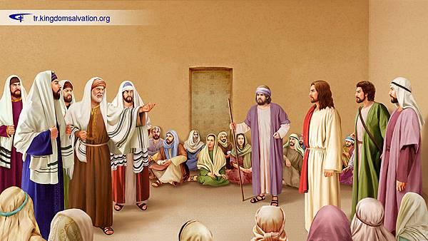法利赛人捏造谣言毁谤耶稣,说耶稣是靠鬼王别西卜赶鬼(161025).jpg