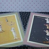 貓咪明信片-傘/望遠鏡