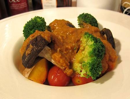 咖哩醬烤時蔬(蔬食)