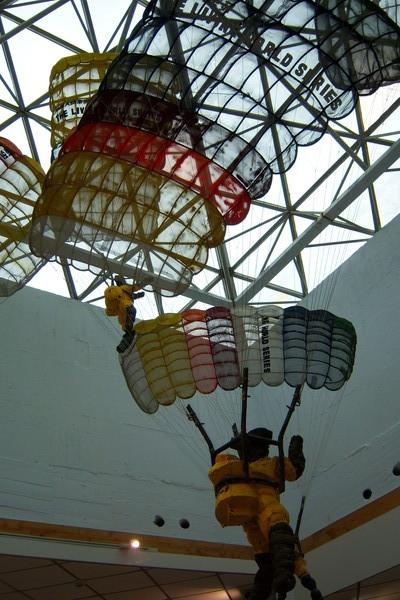 館內小型飛行傘模型