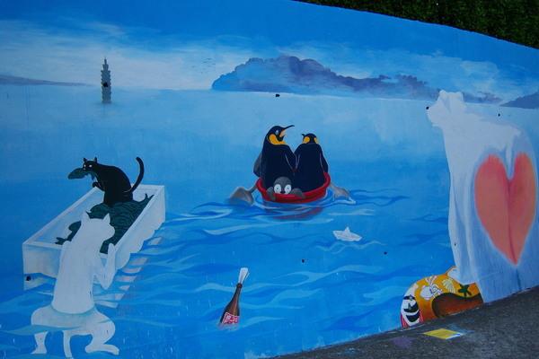 地球暖化,動物們都要逃了 壁畫5