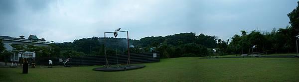 運動場的全景圖