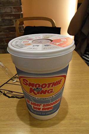 SMOOTHIE KING - 超級草莓思慕雪 - ₩5500
