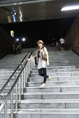 飯店附近的地鐵站(東大入口站)