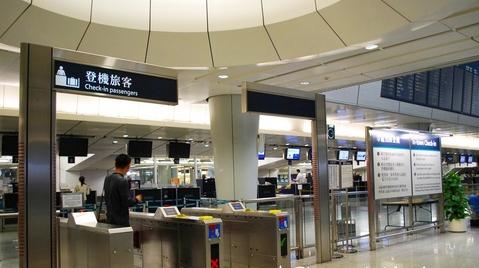 進入機場快線閘門後預掛行李與預辦登機